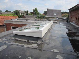 Houten lessenaarsdak vrij op het dak 1.1