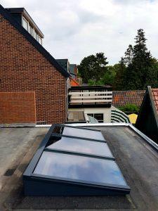 Houten lessenaarsdak vrij op het dak 6.4